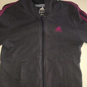 Pink Striped Adidas Jacket